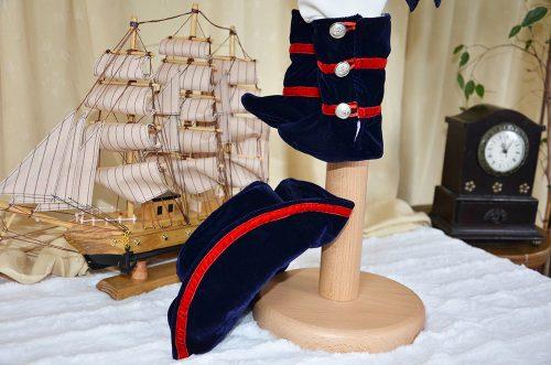 Costumas botez baietel, model Napoleon, 5 piese 2