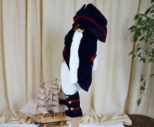 Costumas botez baietel, model Napoleon, 5 piese 3