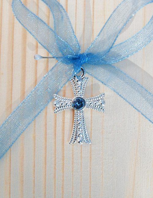 Cruciulite botez cu pietricica bleu 1