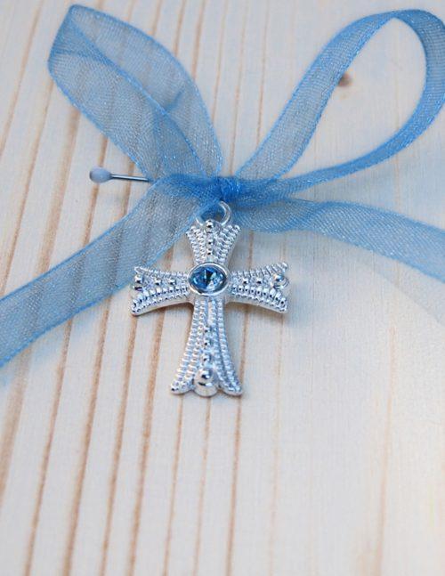 Cruciulite botez cu pietricica bleu 2
