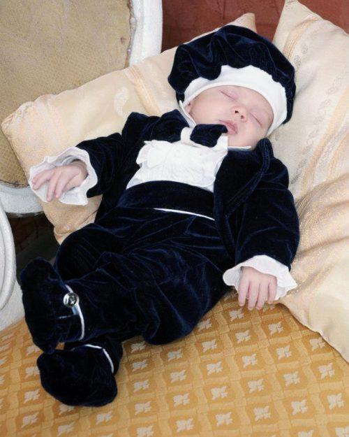 Costum botez baietel Velvet 1