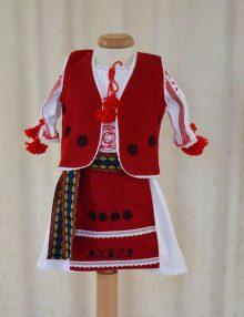 Costum botez traditional romanesc pentru fetite