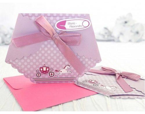 Invitatie Karmina scutec roz 1