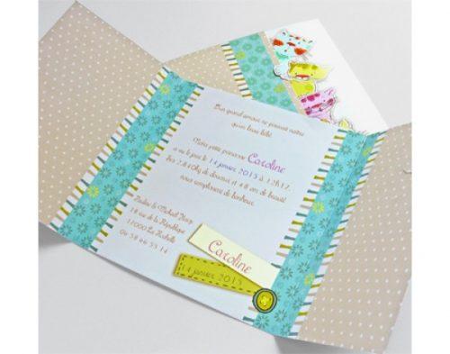 Invitatie botez Nery pisicute cu card 3