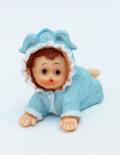 Mărturie botez bebe bleu ceramica