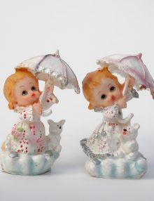 Marturie botez bebe fetita cu umbrela
