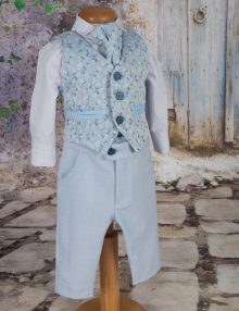 Costum botez albastru