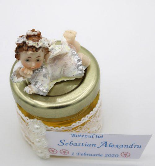 Borcanel cu miere sau arahide glazurate, pentru baietei 2