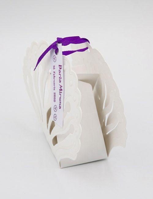 Marturie botez cutiuta din carton sidefat 2